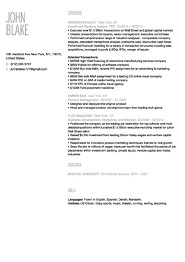 Resume New York template