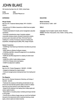 Resume Madrid template