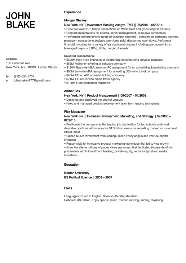 London. Resume New York Template  New Resume Templates