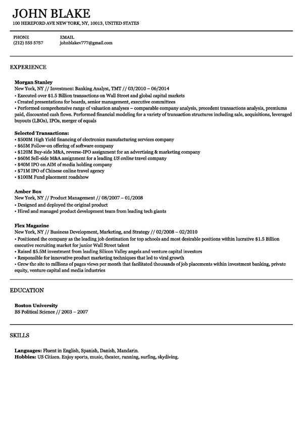 zoom in sao paulo resume milan template - Business Resume Template
