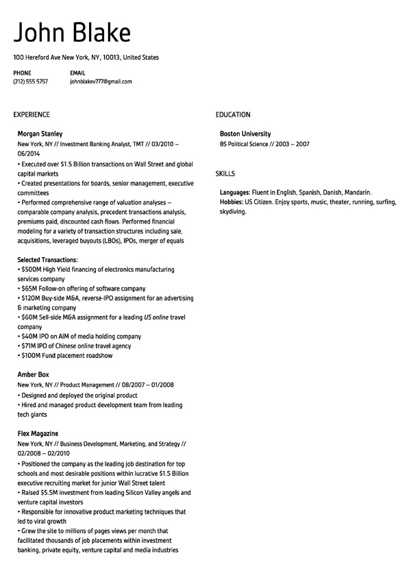 Resume Berlin template