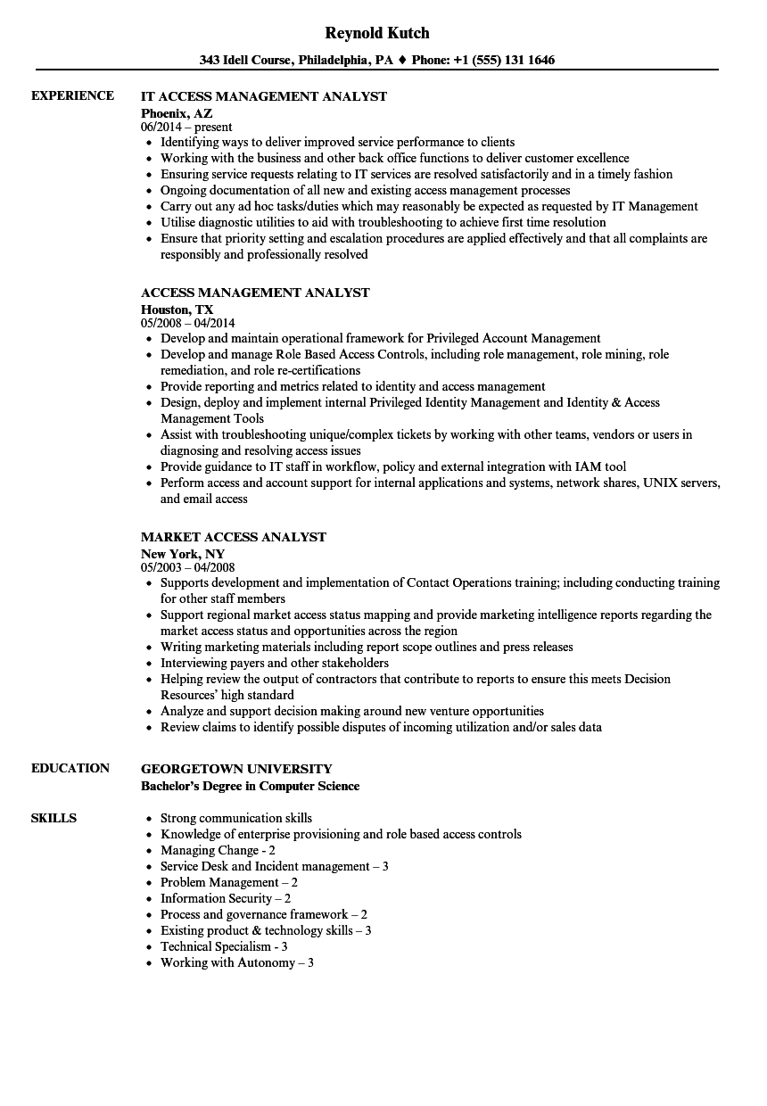 download access analyst resume sample as image file - Workforce Management Analyst Sample Resume