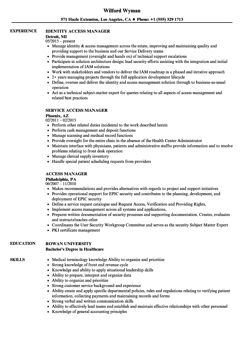 disability access audit template - access manager resume samples velvet jobs