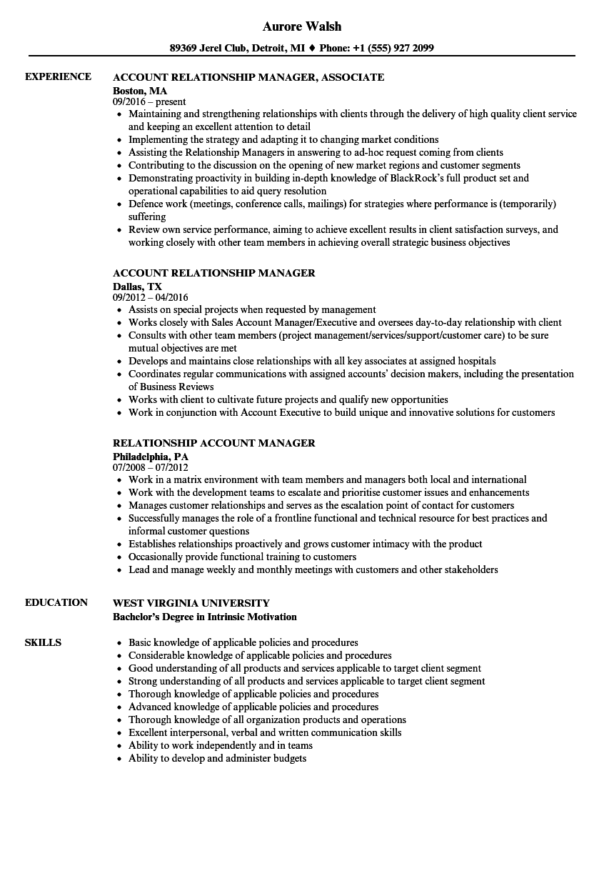 download account manager relationship manager resume sample as image file - Account Manager Resume Examples