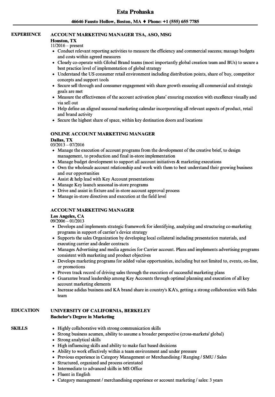 resume account