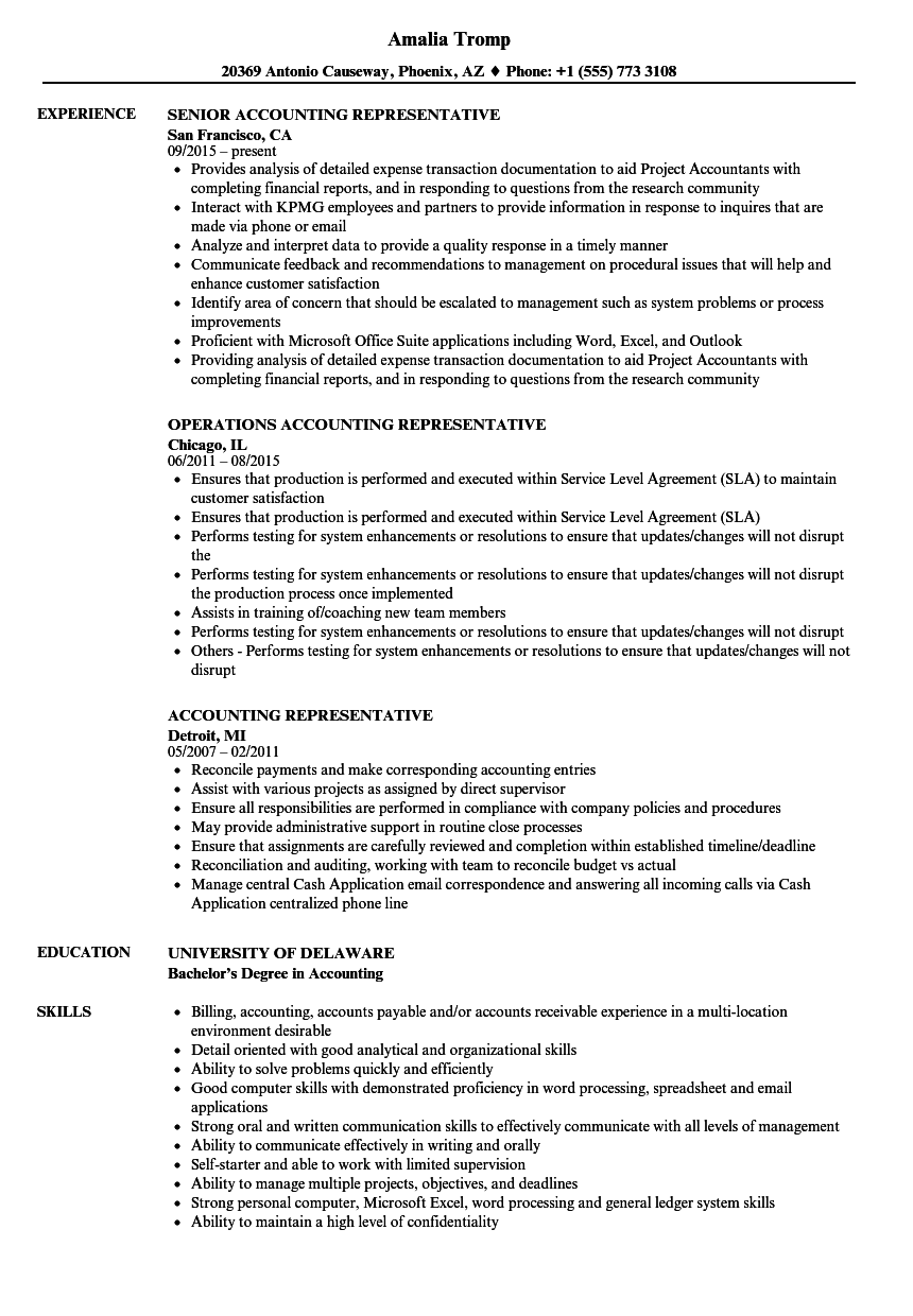 Resume Accountant Sample sample resume for pharmaceutical sales