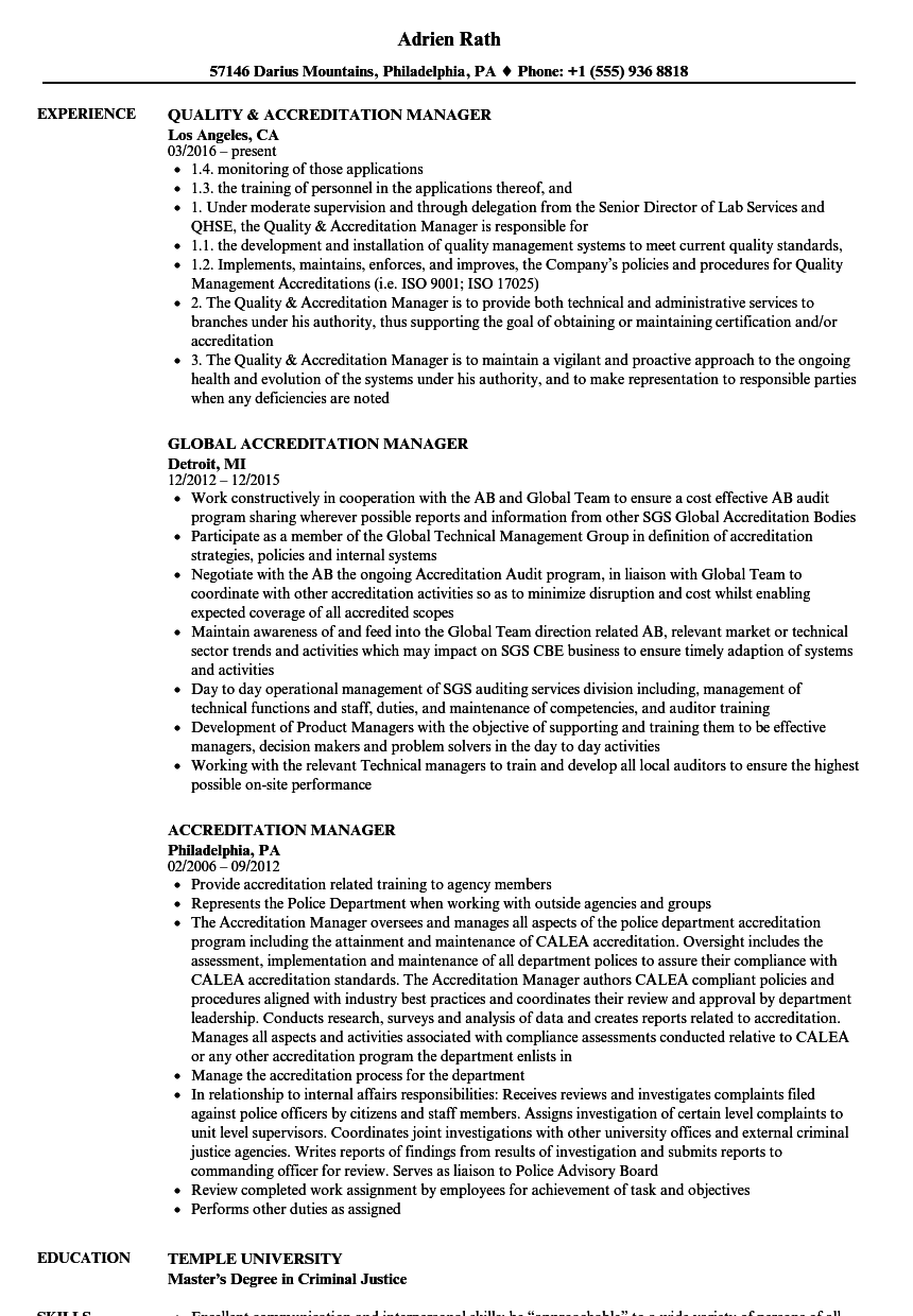 What Does Accreditation Mean On A Resume Professional Resume
