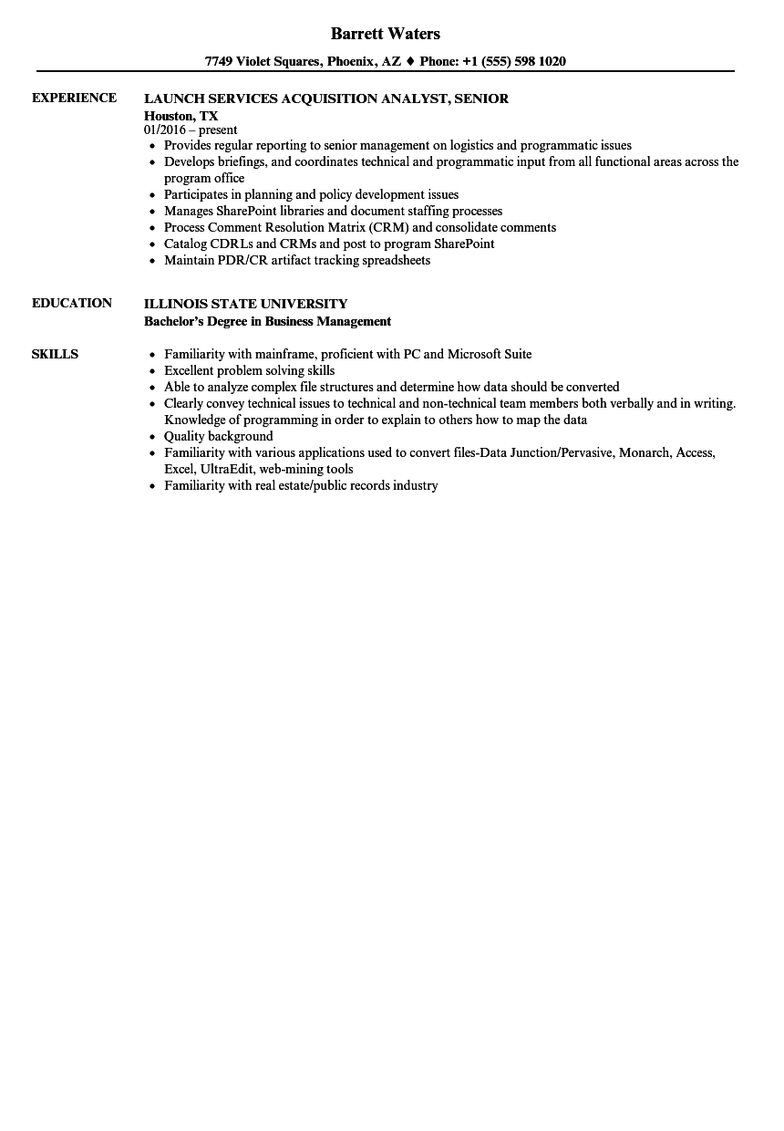 Acquisition analyst senior resume samples velvet jobs download acquisition analyst senior resume sample as image file 1betcityfo Gallery