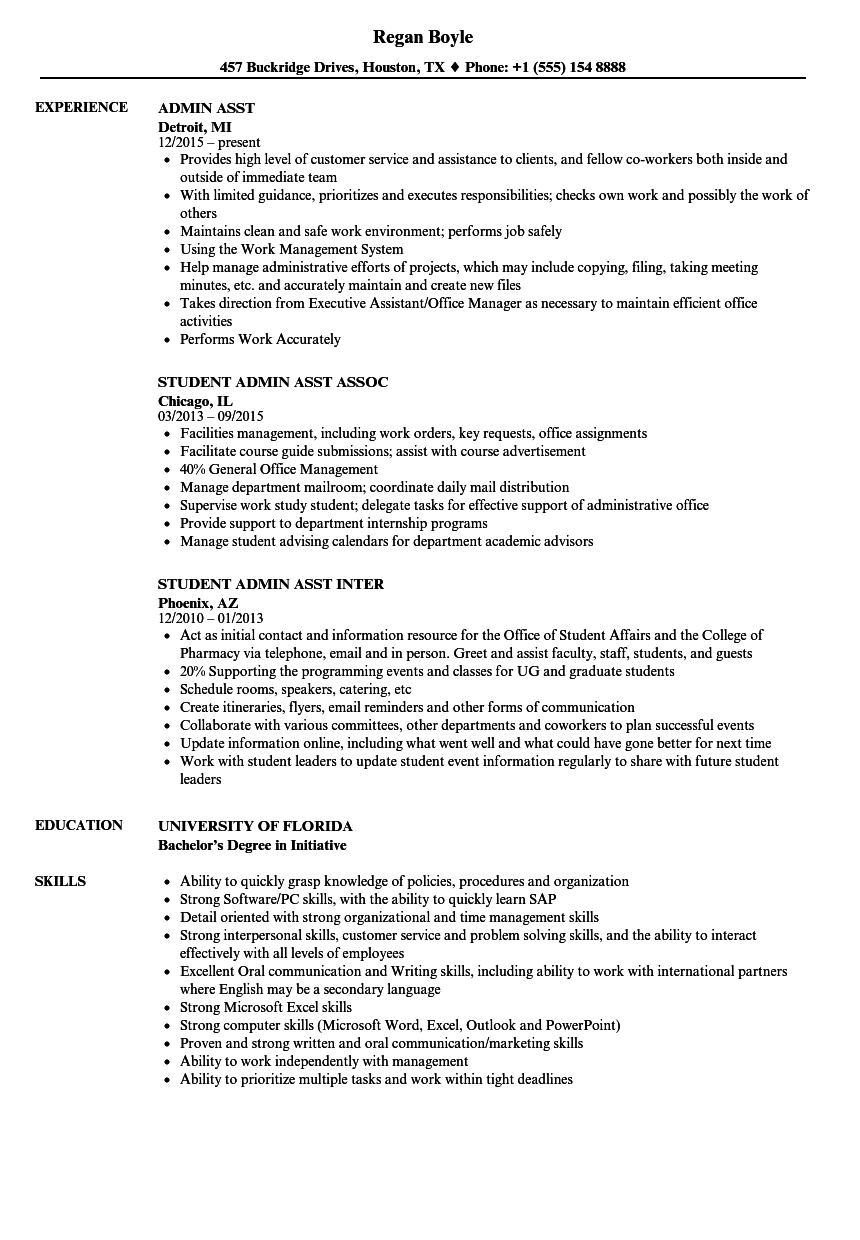 Download Admin Asst Resume Sample As Image File  Admin Asst Resume