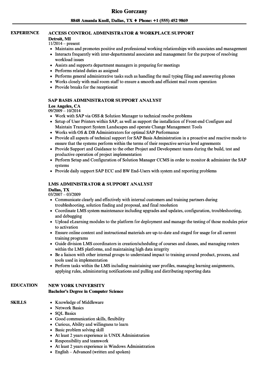 download administrator support resume sample as image file - Customer Service Administrator Sample Resume