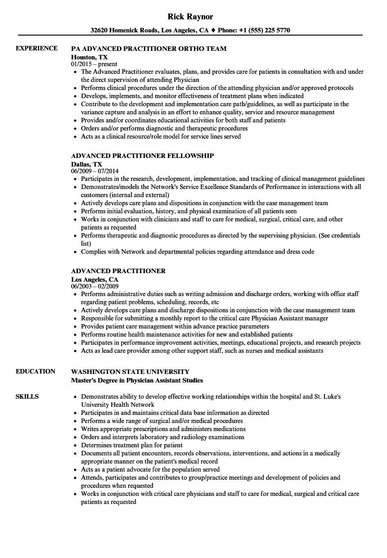 download advanced practitioner resume sample as image file - Advanced Practitioner Sample Resume