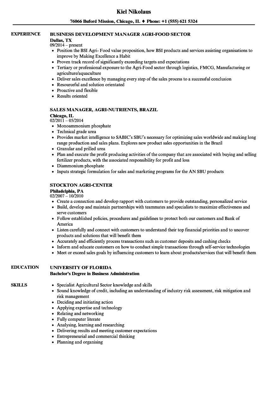 Agri Resume Samples | Velvet Jobs