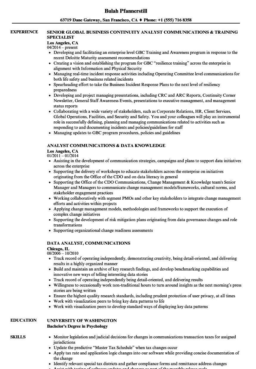 Great Business Continuity Resume Example Contemporary Entry