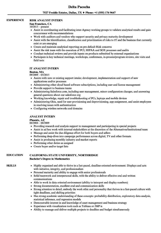 download analyst intern resume sample as image file capacity analyst sample resume - Disaster Recovery Analyst Sample Resume