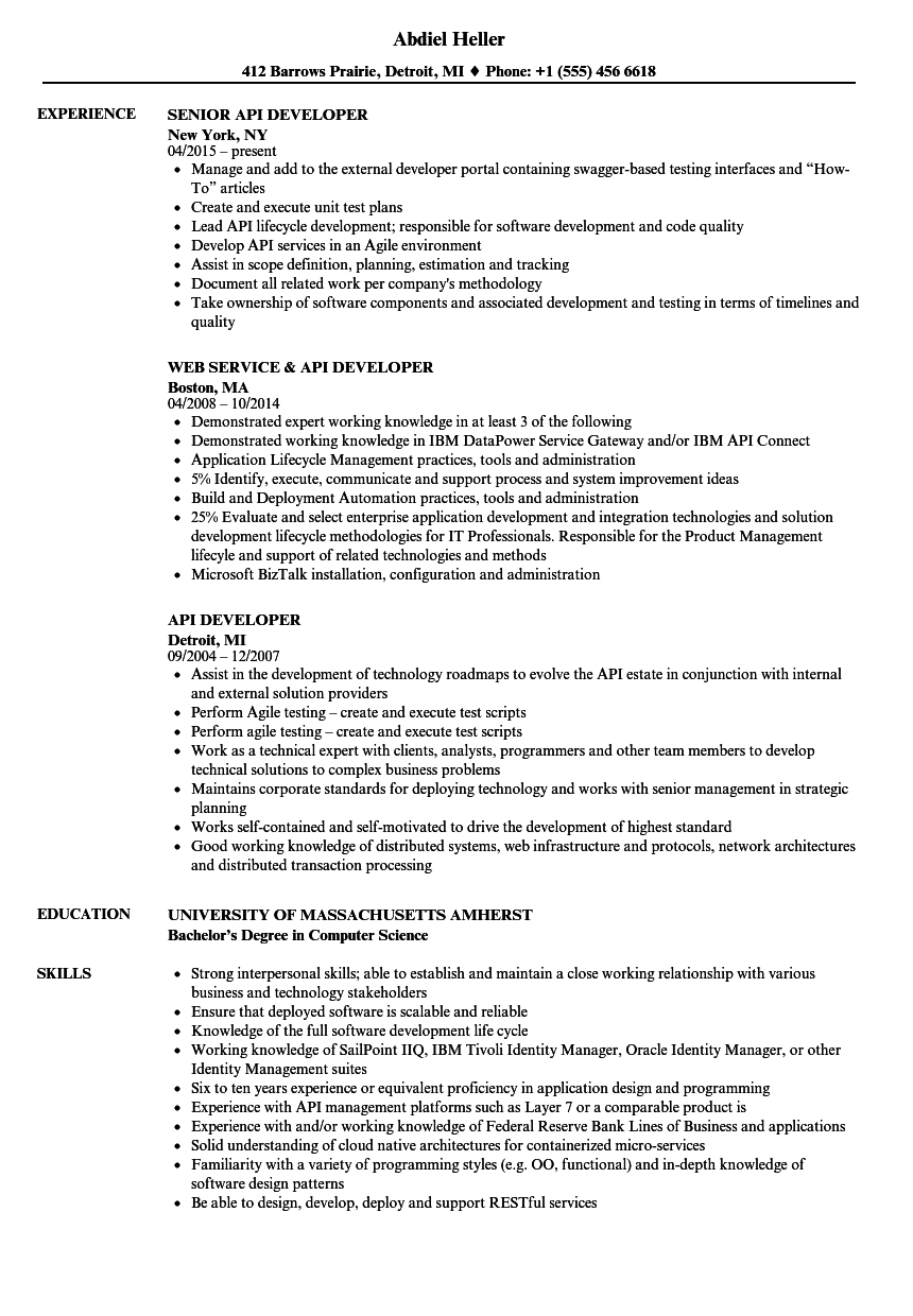 Responsive Adaptive Design Sample Resume