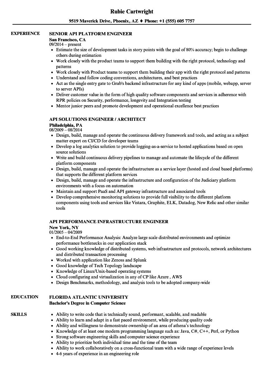 Api-engineer Resume Samples | Velvet Jobs