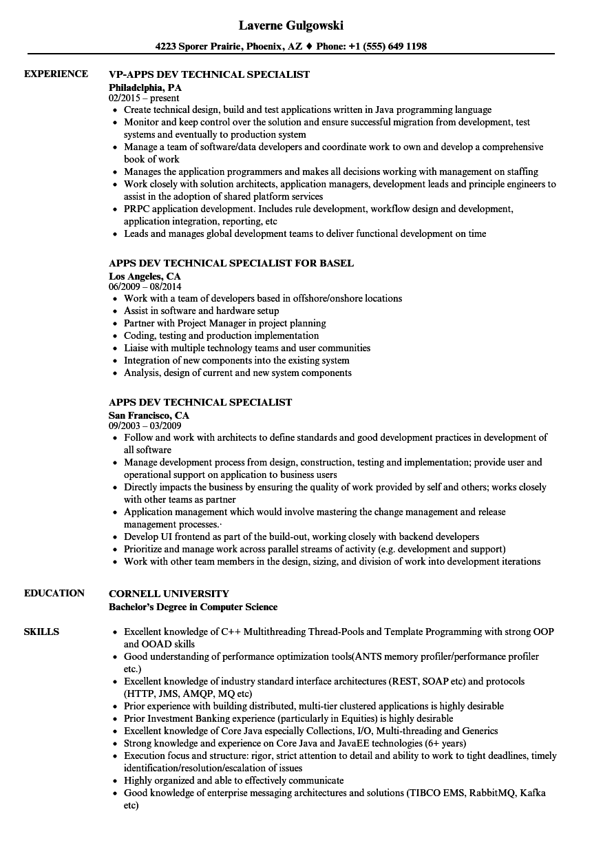 Multithreading Resume Sample