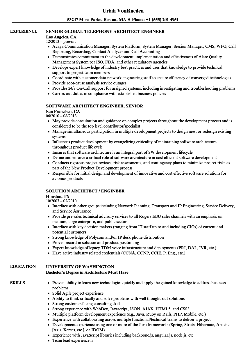 download architect engineer resume sample as image file - Architectural Engineering Resume Sample