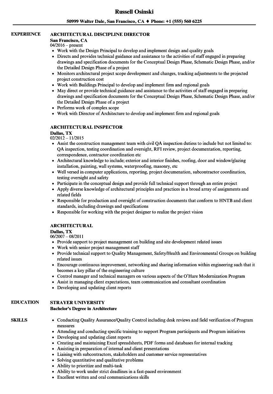 architectural resume samples velvet jobs