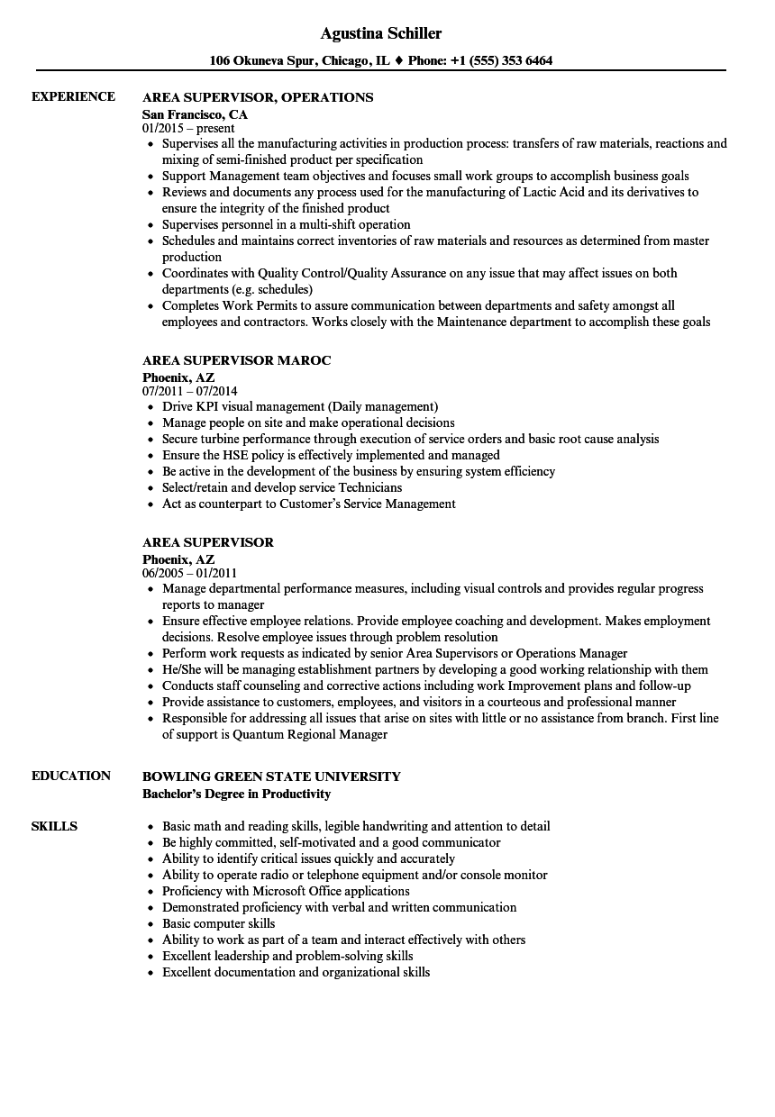 related job titles marketing supervisor resume sample - Job Resume Sample
