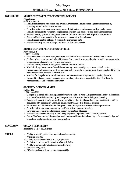 Armed Resume Samples | Velvet Jobs