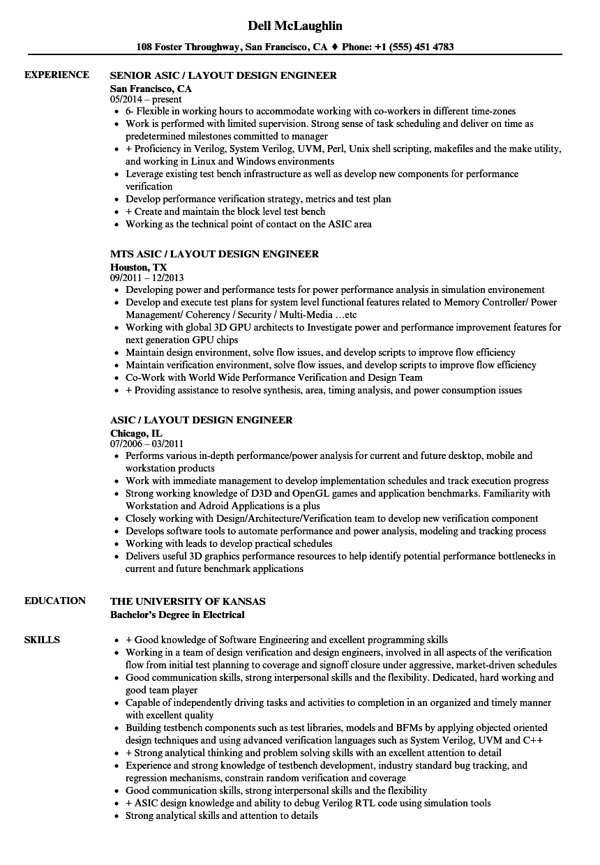 download asic layout design engineer resume sample as image file - Asic Resume Objective