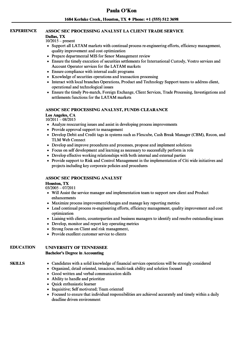 Foreign Exchange Analyst Resume