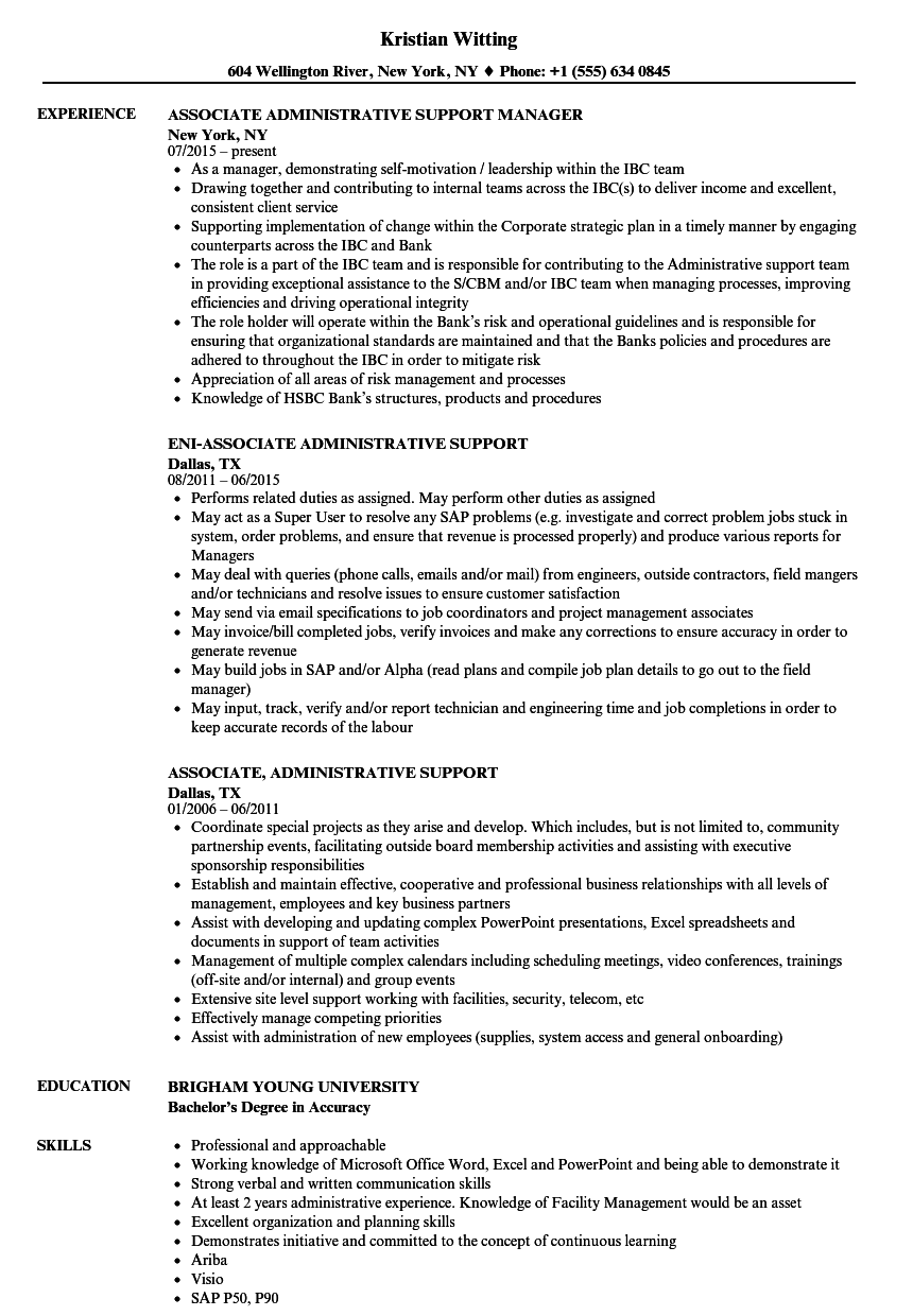 administrative support resume, new administrative support resume ...