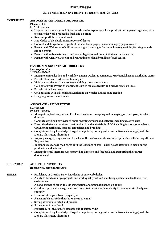art administrator resume