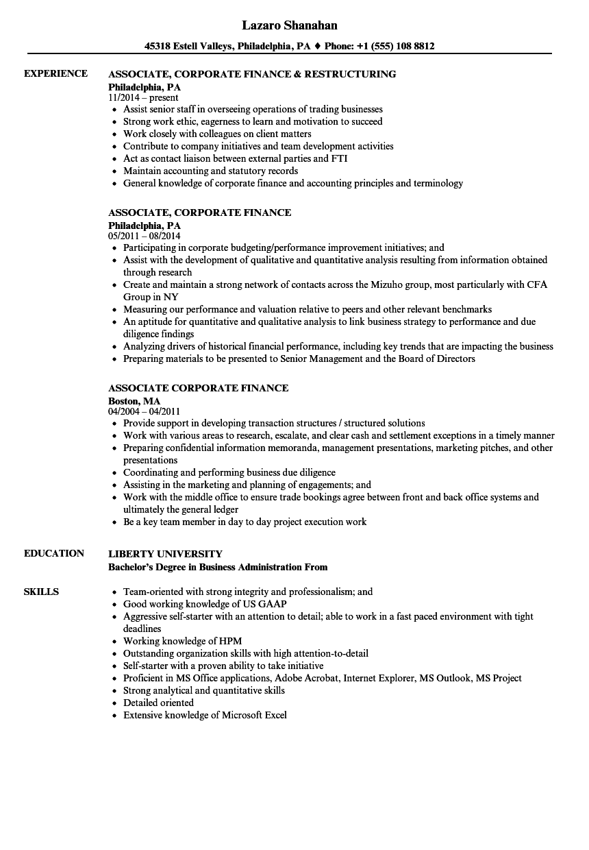 Associate corporate finance resume samples velvet jobs download associate corporate finance resume sample as image file altavistaventures Gallery