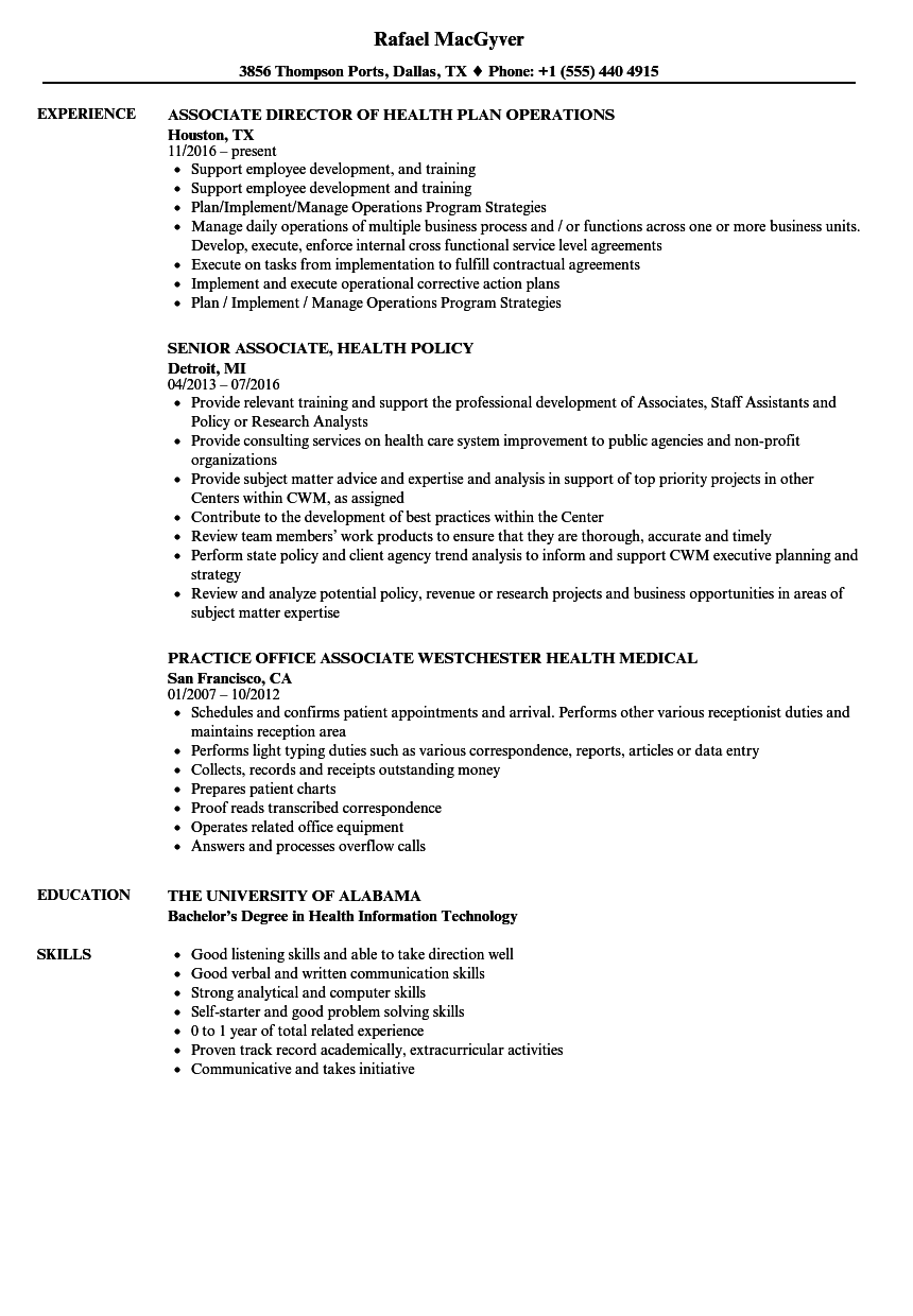 ociate-health-resume-sample Sample Health Care Information Technology Resume on care analyst, templates for mental, care management, information technician, wellness executive, information technology, care coordinator, care director operations, science student, care assistant,