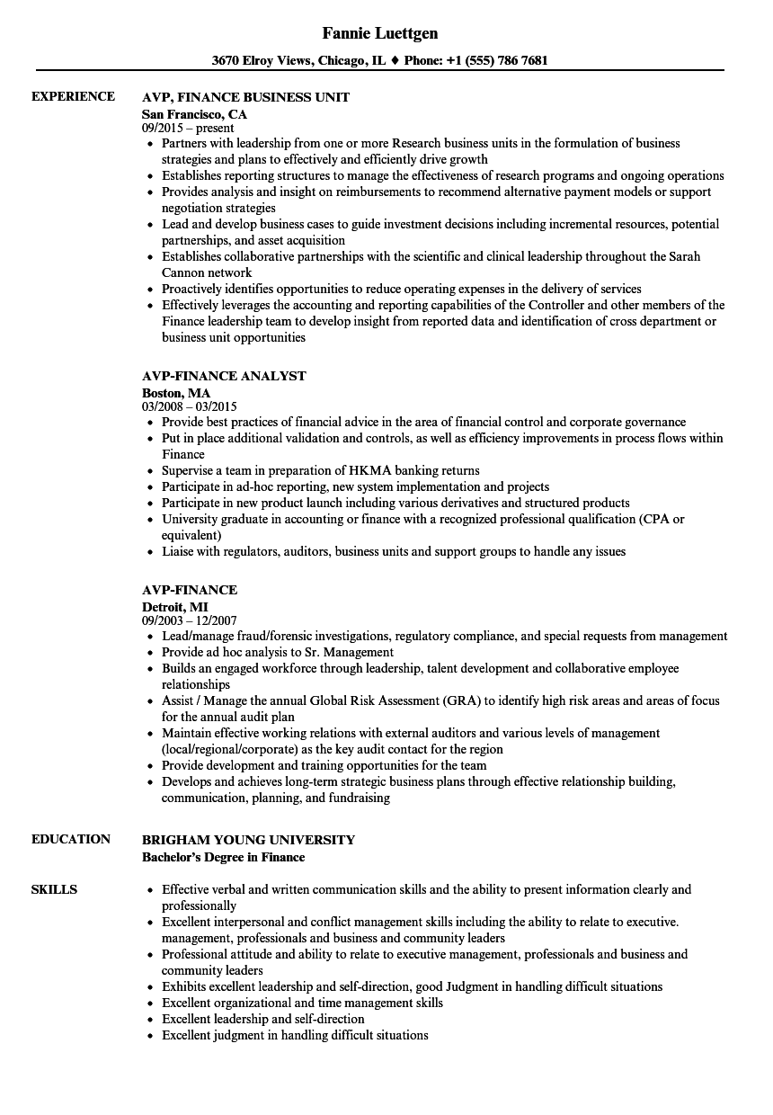 Finance Resume Examples Gorgeous Finance Student Resume Example