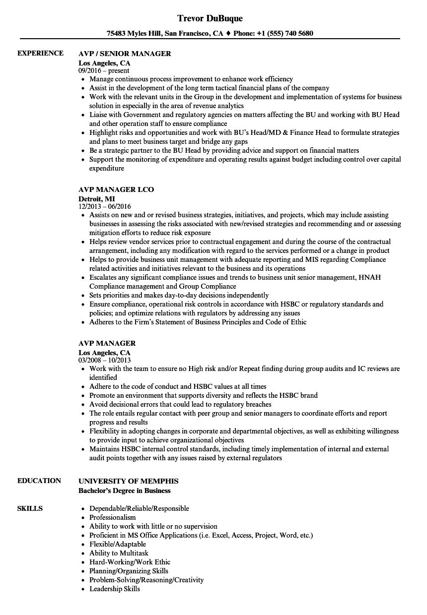resume How To Describe Time Management Skills On Resume avp manager resume samples velvet jobs excellent time management skills and be accustomed to working with deadlines ability assume responsibility accountability for decision making