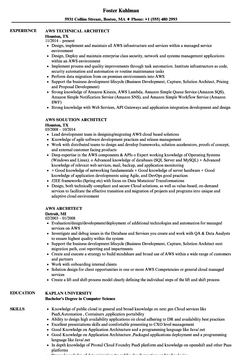 aws redshift developer resume