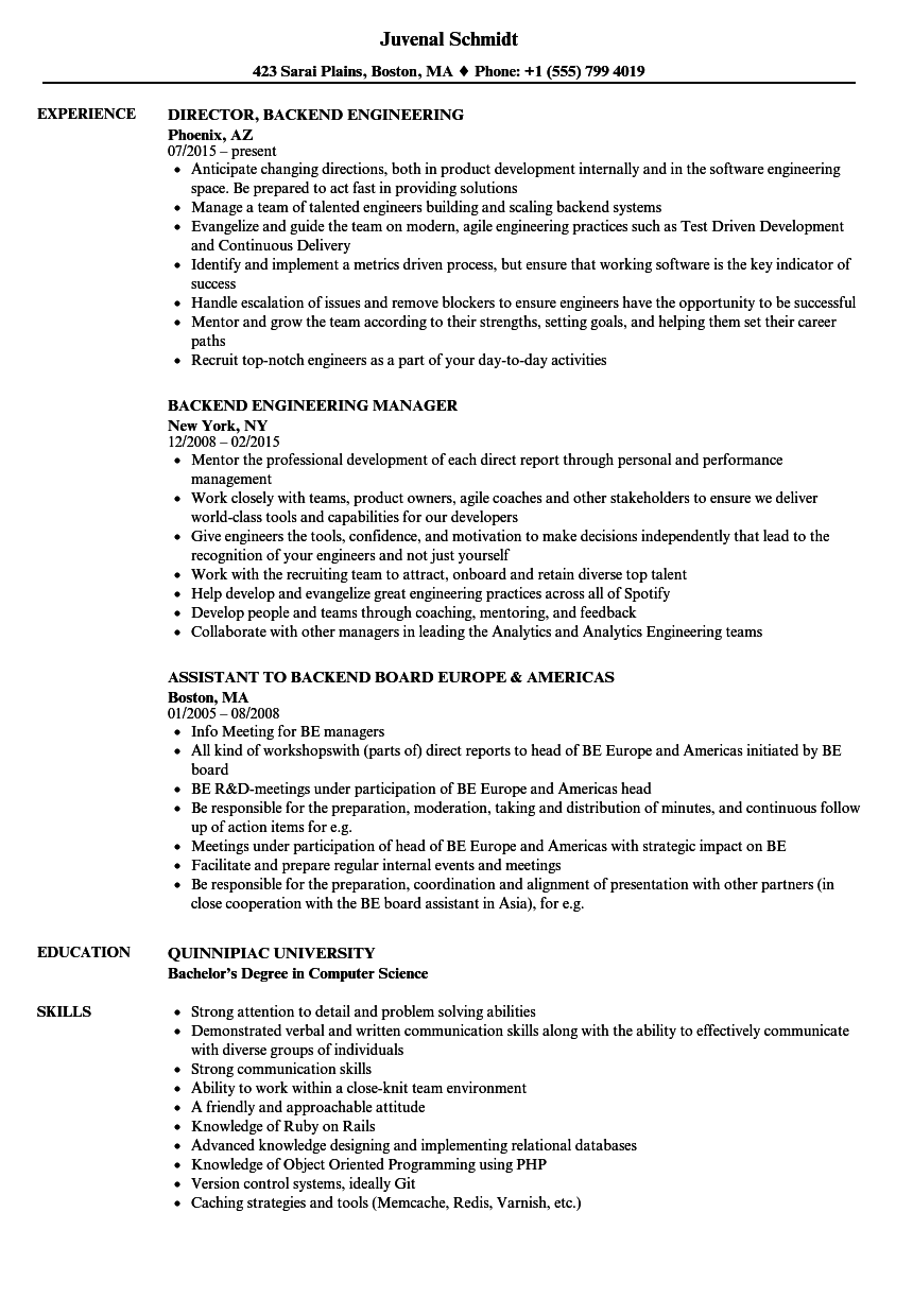 download backend resume sample as image file - Skills And Abilities In Resume Sample