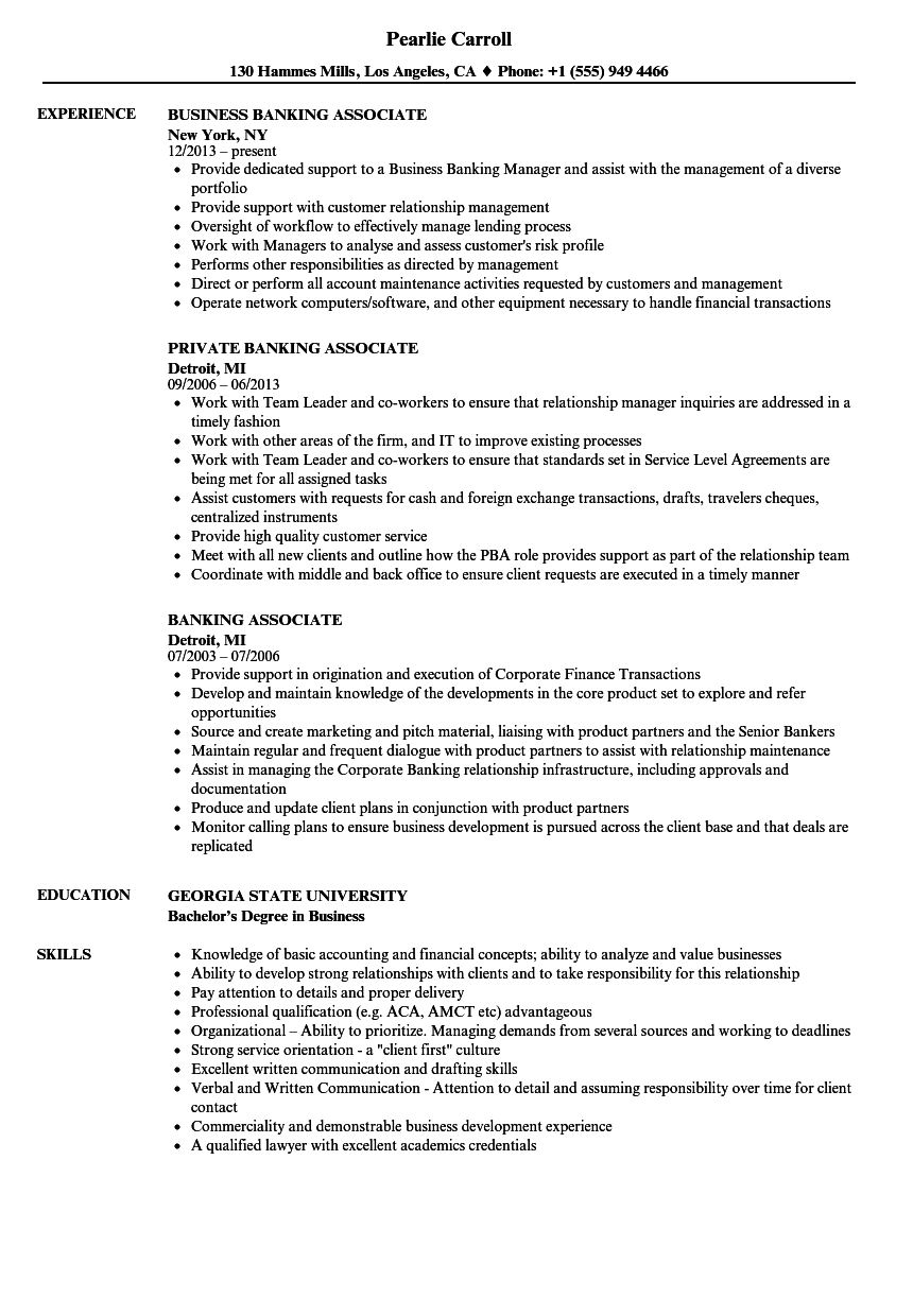 Sample investment banking resume associate umpqua investments salary