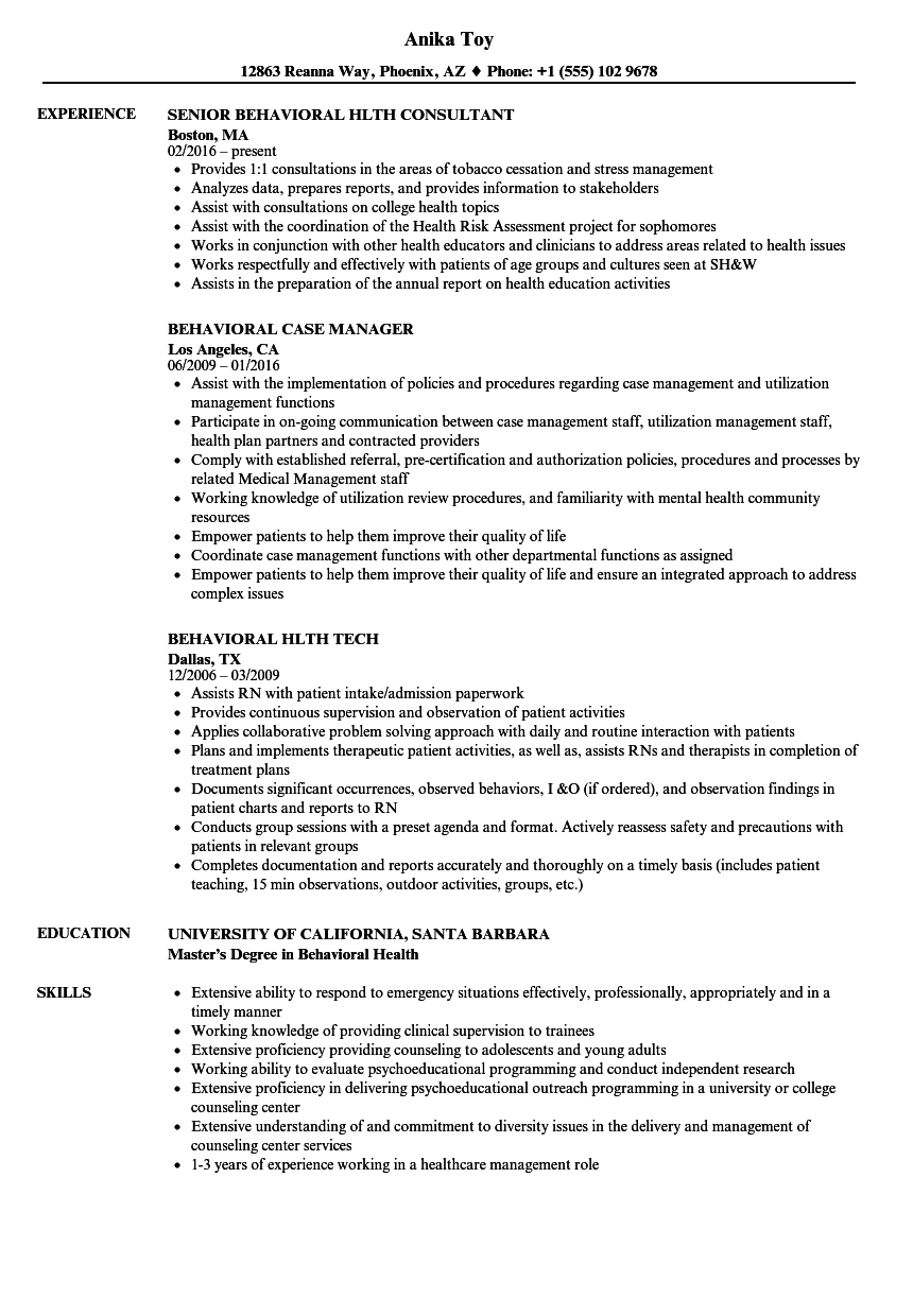 Behavioral Resume Samples | Velvet Jobs