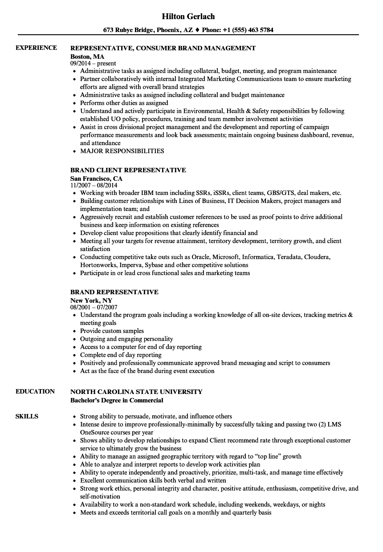 sales representative job description for resume