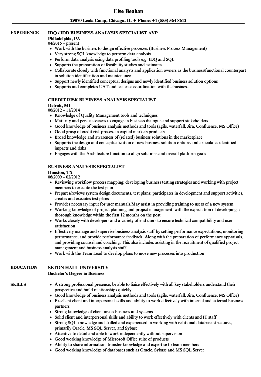 Business analysis specialist resume samples velvet jobs download business analysis specialist resume sample as image file 1betcityfo Gallery