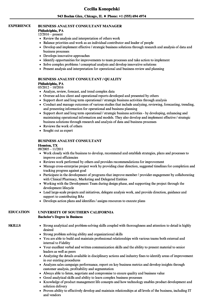 download business analyst consultant resume sample as image file - Sample Resume Reconciliation Analyst Consultant