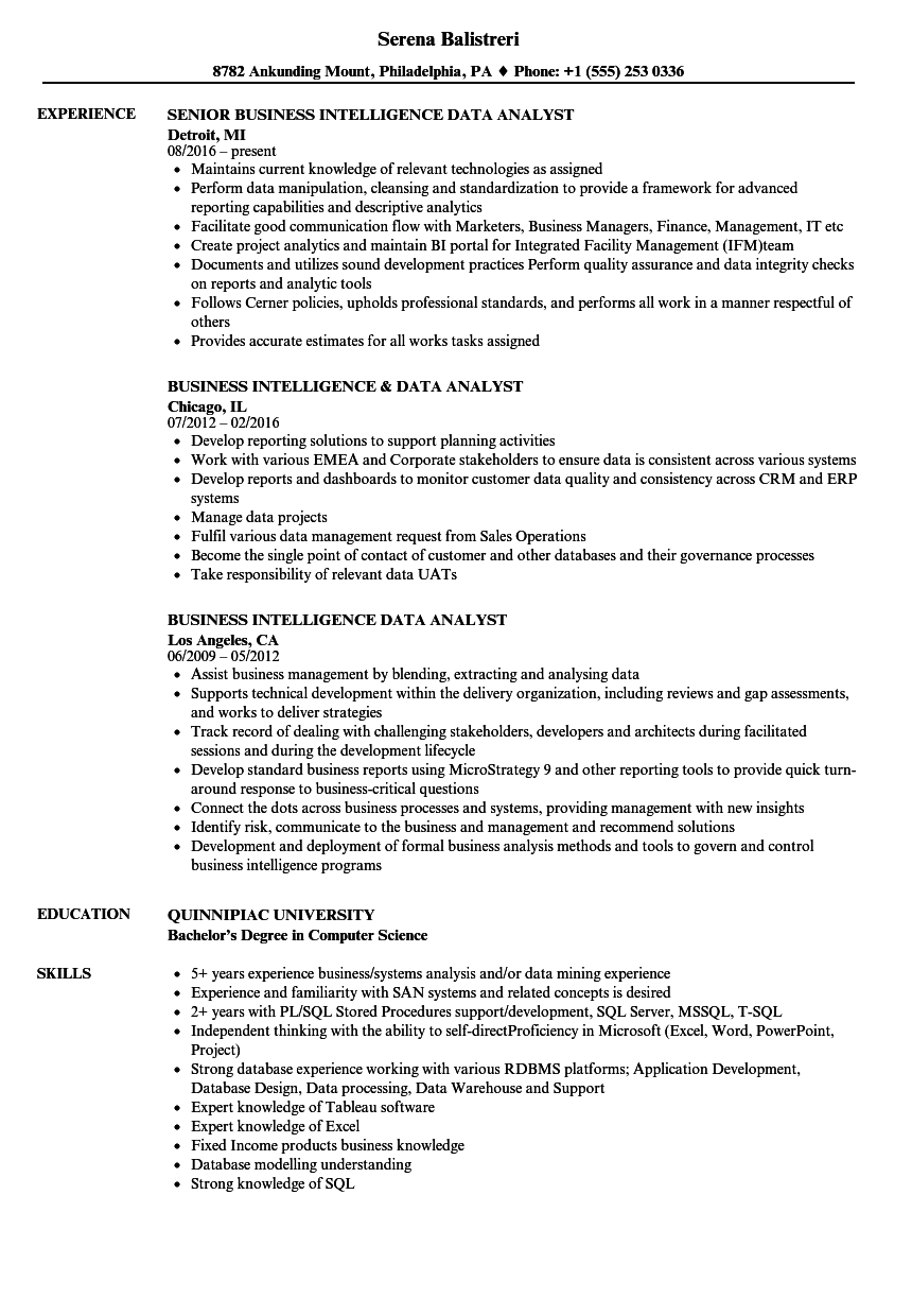 business-intelligence-data-yst-resume-sample Sample Information Systems Resume on it professional, no experience, hair stylist, fresh graduate, career change,