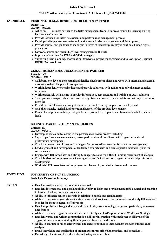 Business Partner  Human Resources