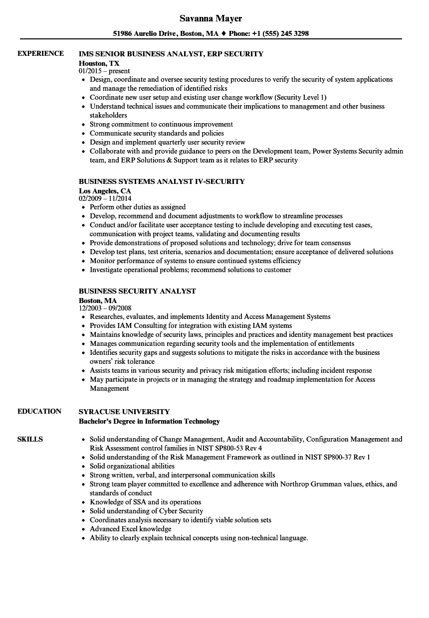 sap security analyst resume - Keni.candlecomfortzone.com