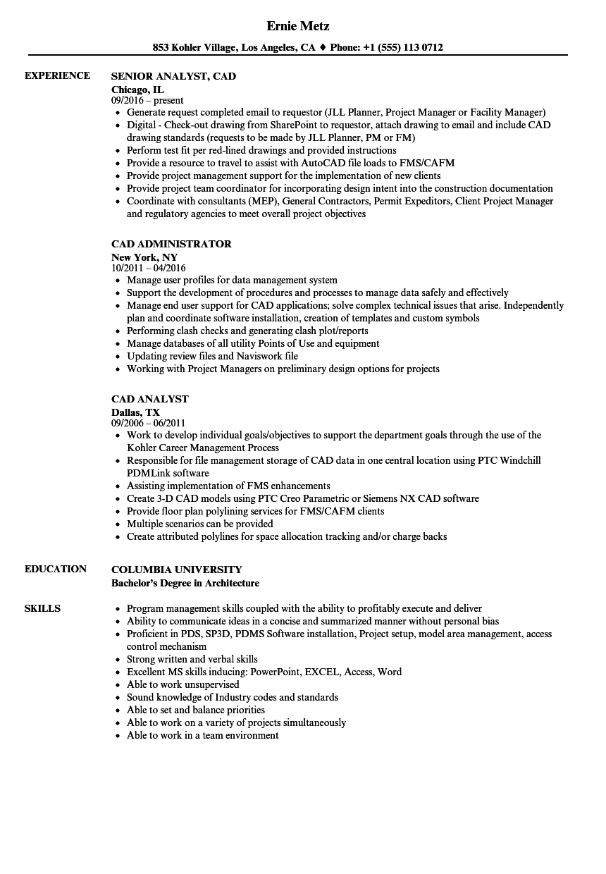 download cad resume sample as image file - Unigraphics Designer Resume