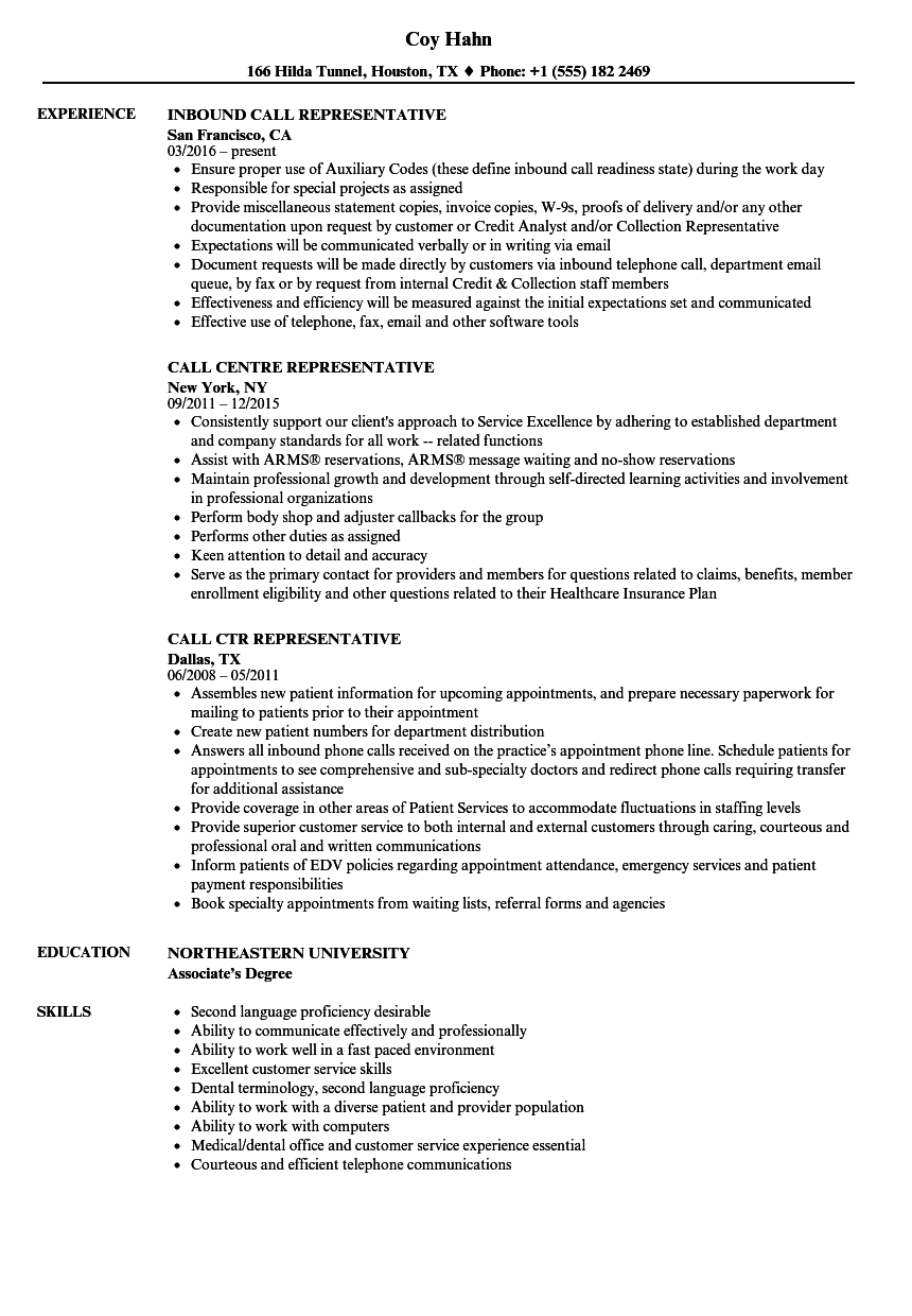 Download Call Representative Resume Sample As Image File  Customer Service Skills Resume