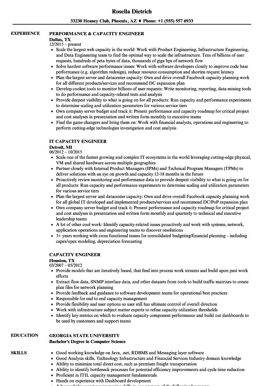resume Domain Knowledge In Resume capacity engineer resume samples velvet jobs download sample as image file