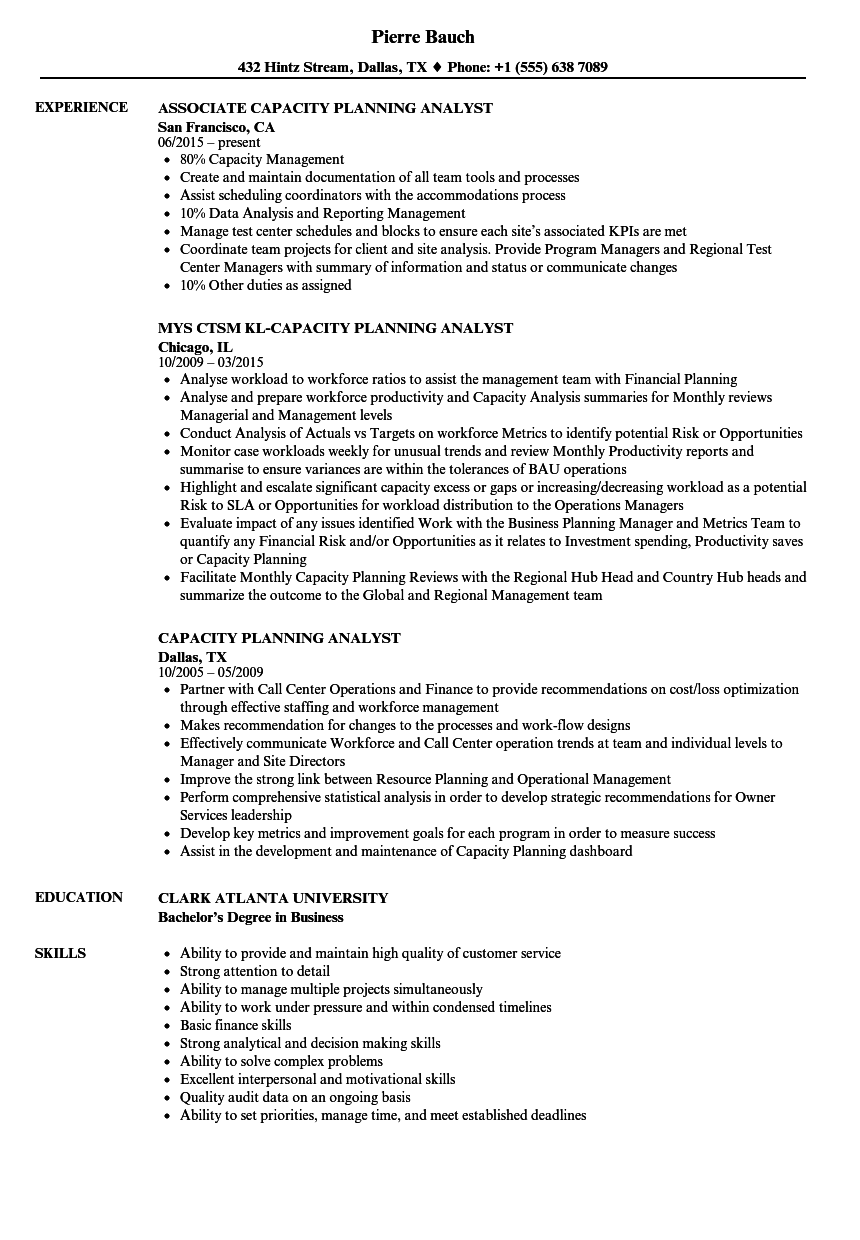 business planning analyst job description