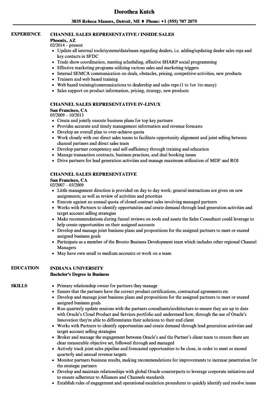 sales rep resume samples