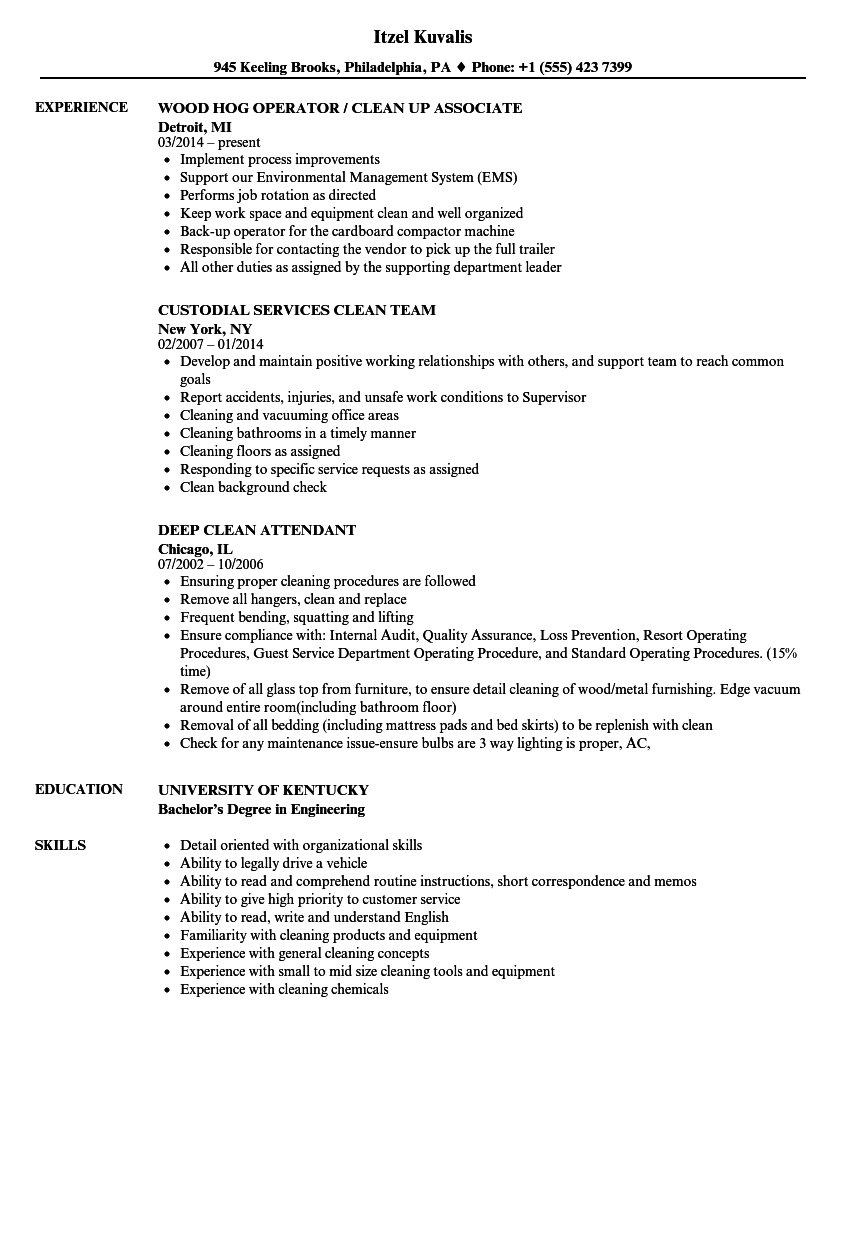 Clean Resume Samples | Velvet Jobs