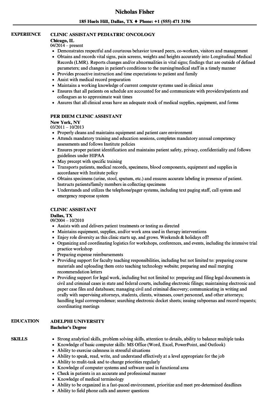 Clinic assistant resume samples velvet jobs download clinic assistant resume sample as image file 1betcityfo Images